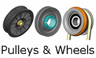 pulleys, sheaves, wheels, tires
